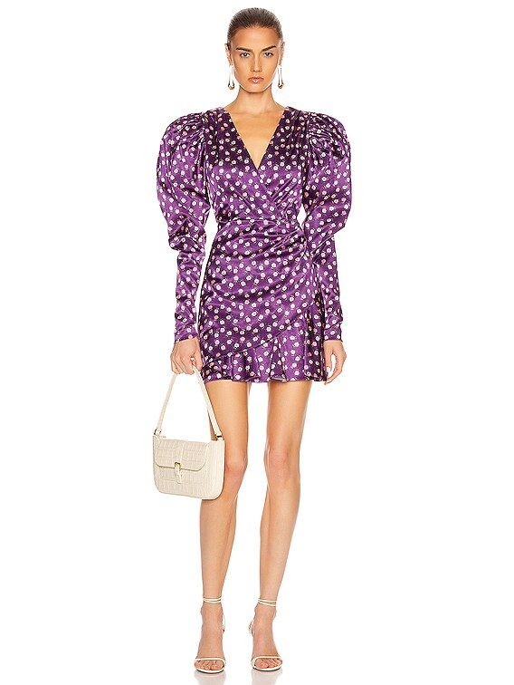 Aiken Dress in Pansy Print