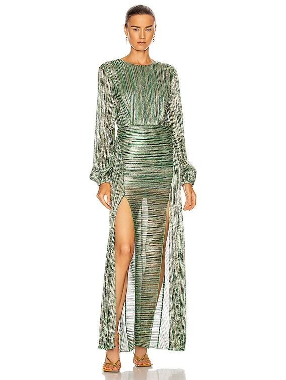 Lisa Dress in Fern Green Combo