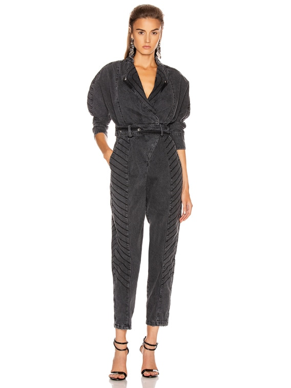 Milla Jumpsuit in Black Vintage