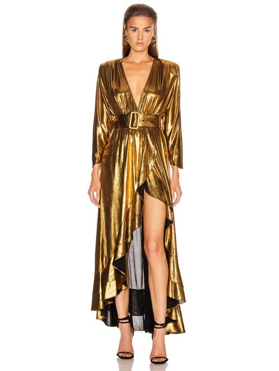 Wayne Dress in Gold