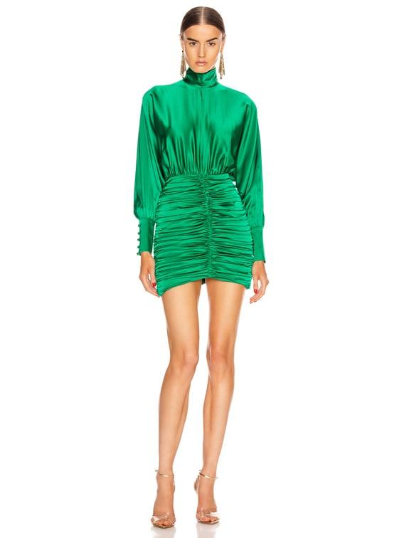 Barbara Dress in Emerald Green