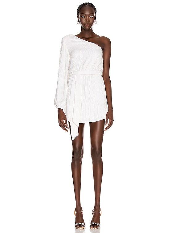 Bridget Dress in Moonglow White
