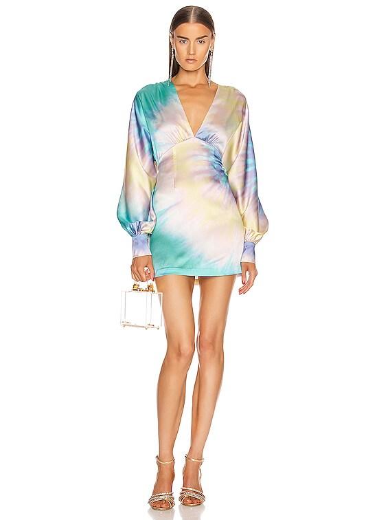 Aubrielle Dress in Multi Tie Dye