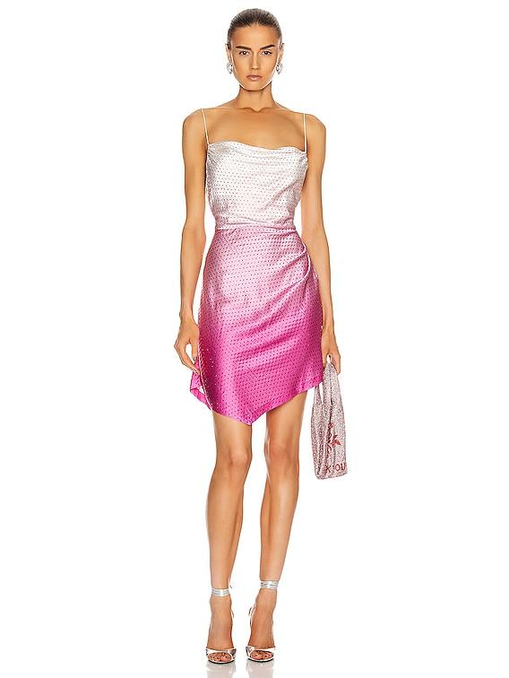 Auris Dress in Deep Dye Pink