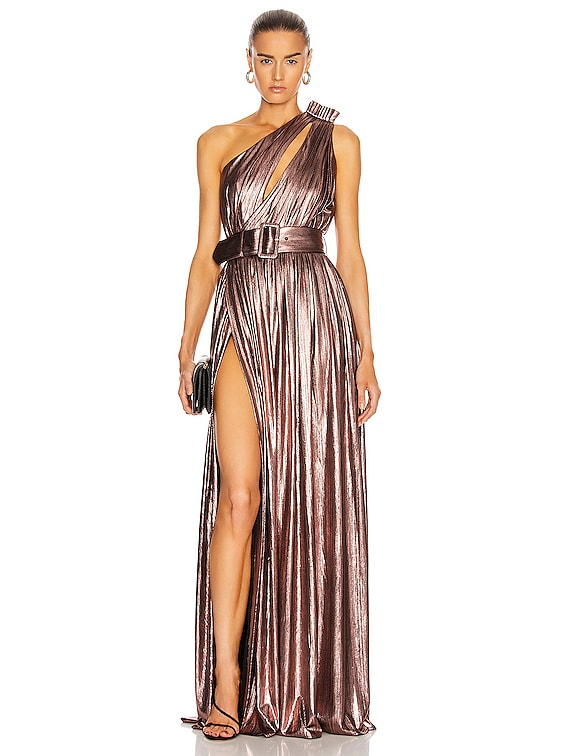 Andrea Maxi Dress in Rose Gold