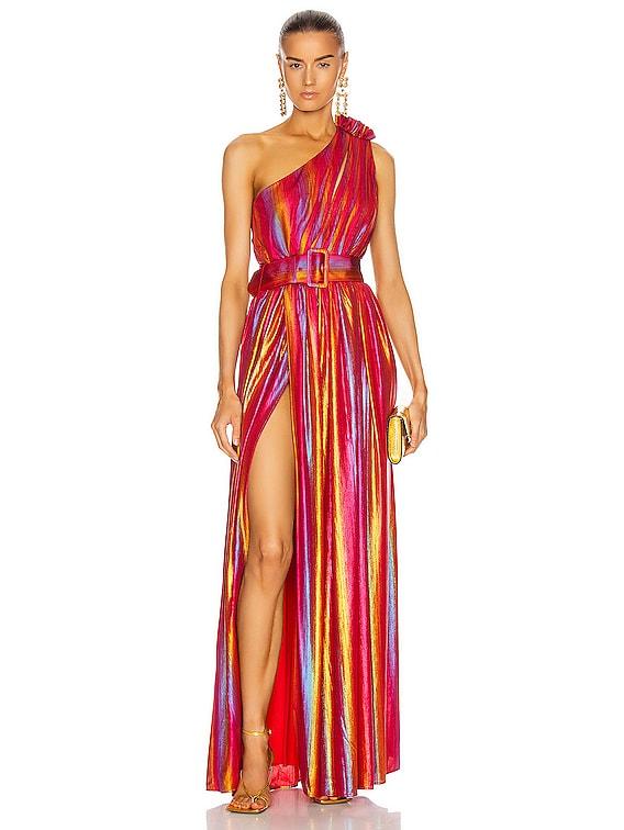 Andrea Maxi Dress in Rainbow