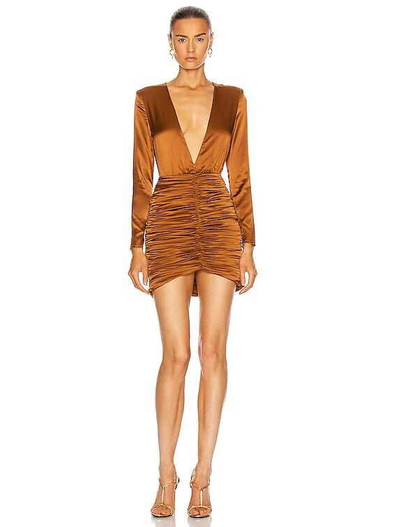 Brea Dress in Brown