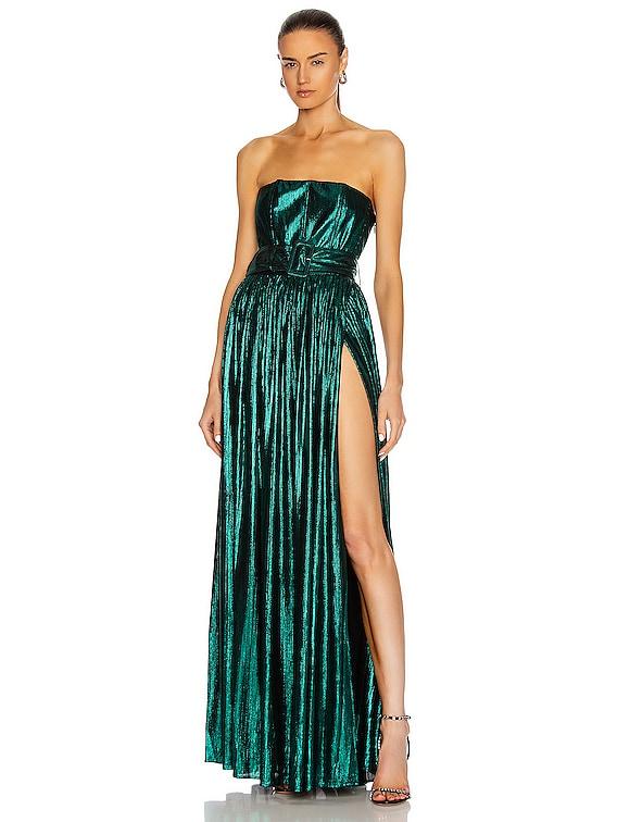 Jaden Dress in Emerald Green