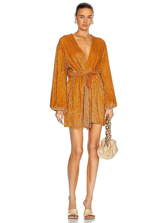 Gabrielle Robe Dress in Honey