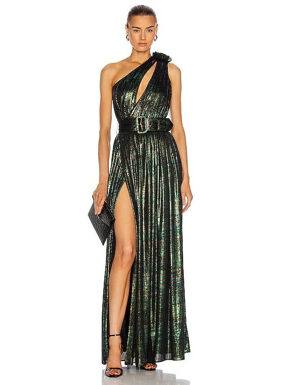 Andrea Dress in Green Print