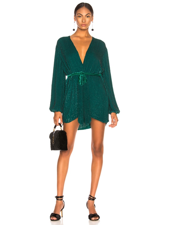 Gabrielle Robe Dress in Green