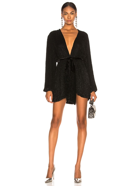 Gabrielle Robe Dress in Black