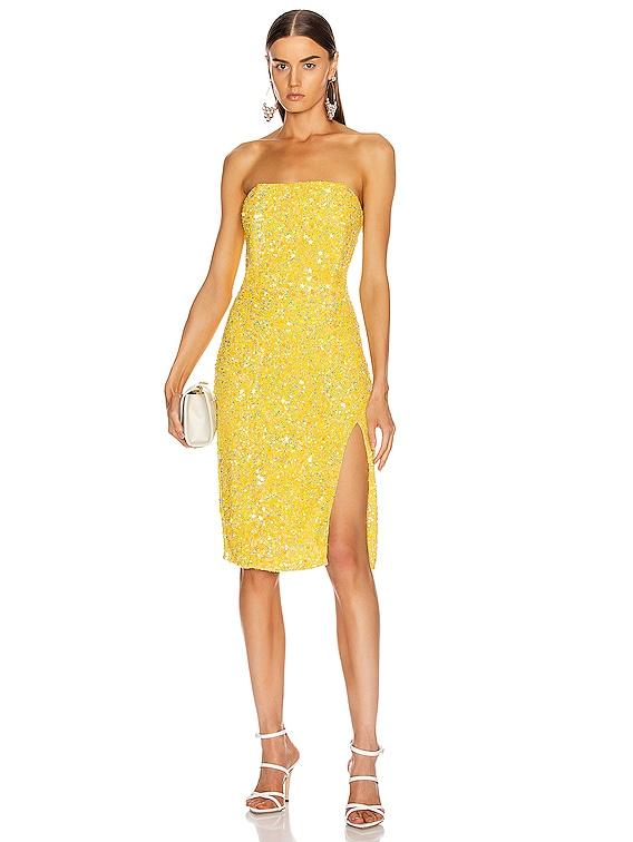 Arryn Dress in Yellow