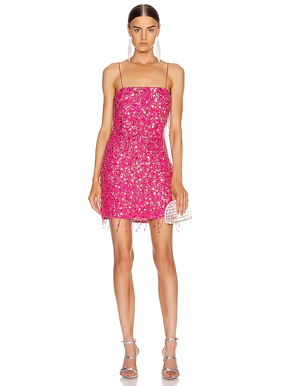 for FWRD Heather Dress in Fuchsia with Tassels