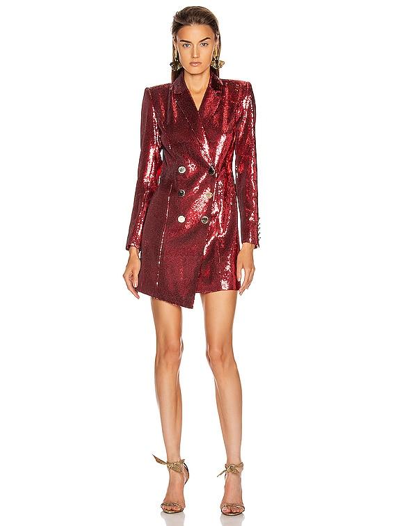 Selena Jacket Dress in Red