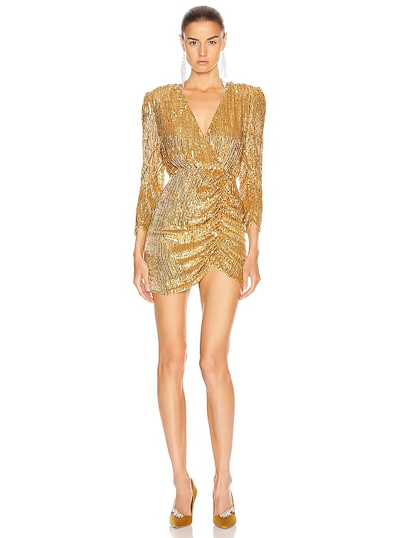 for FWRD Stacey Dress in Gold