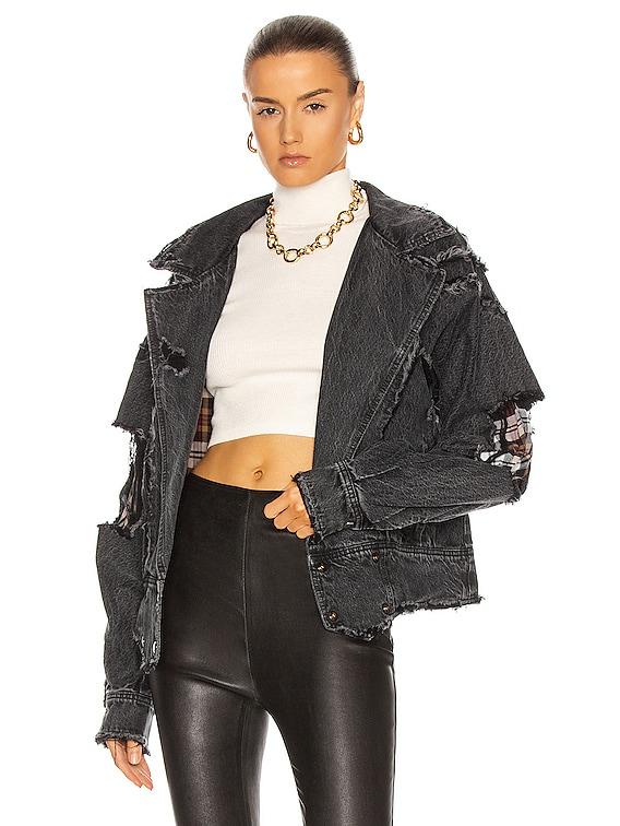 Ellie Reversible Jacket in Onyx
