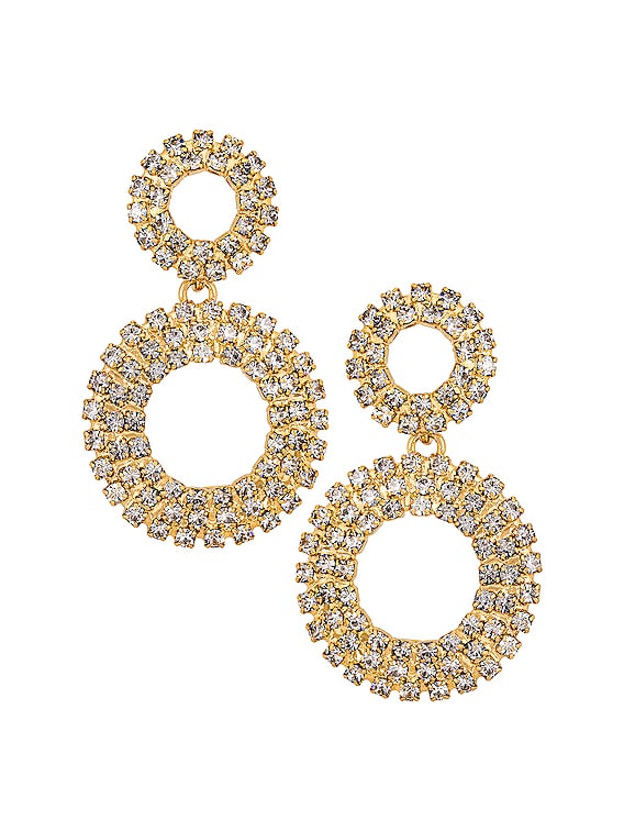 Missy Earrings in Gold & Crystals