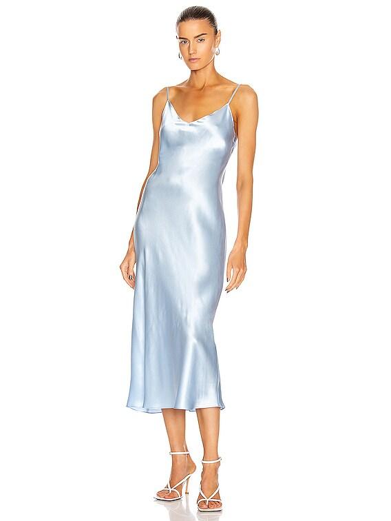 Taylor Slip Dress in Azure