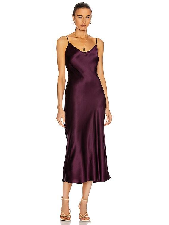Taylor Slip Dress in Bordeaux