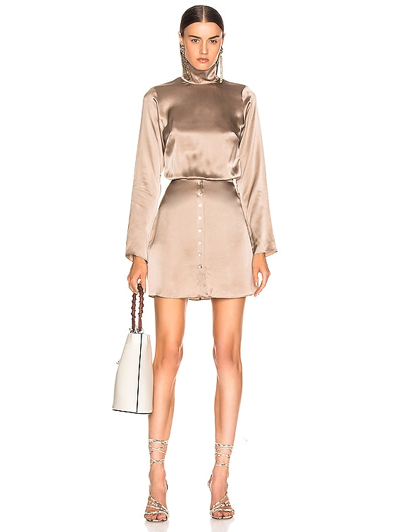 Tonya Dress in Taupe
