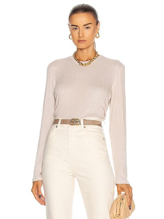 Ryder Long Sleeve Top in Cream