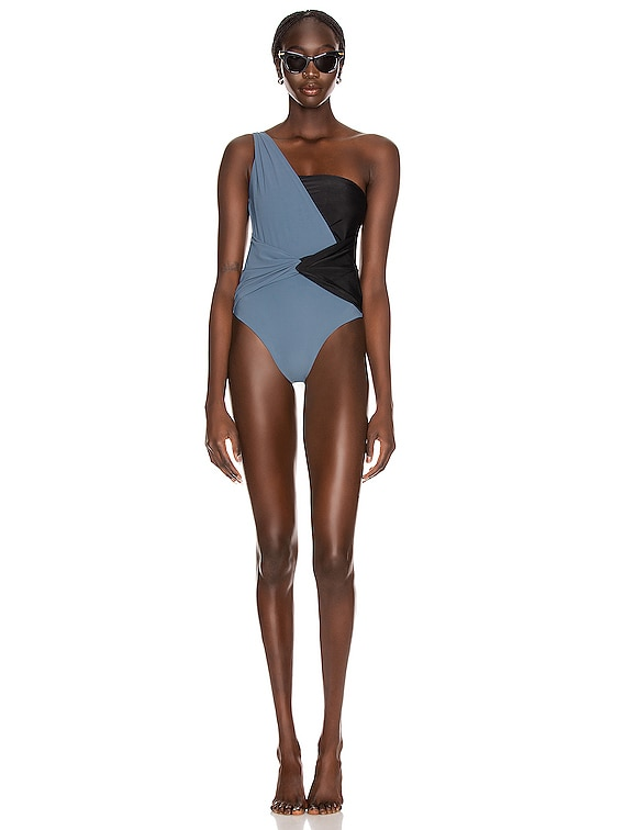 Rene Swimsuit in Dark Navy & Black