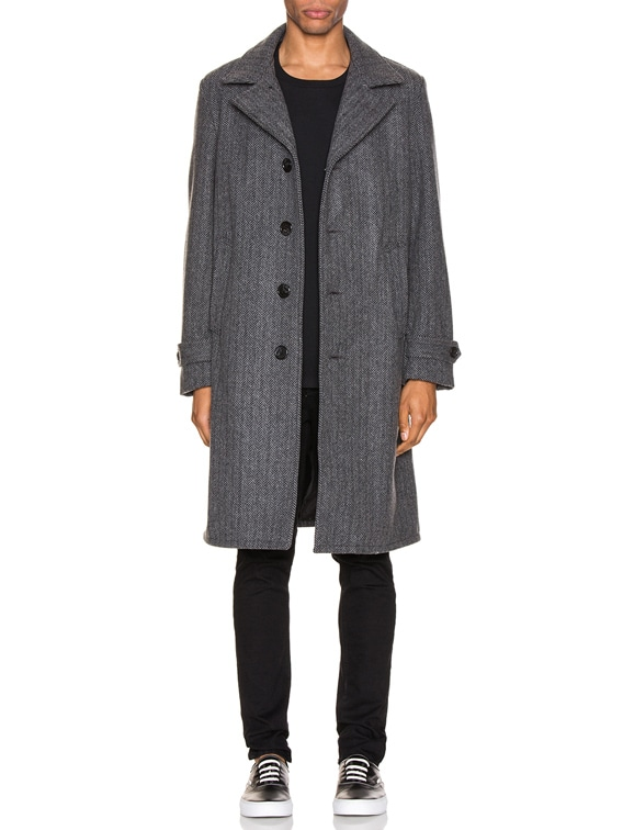 Belder Wool Coat in Charcoal