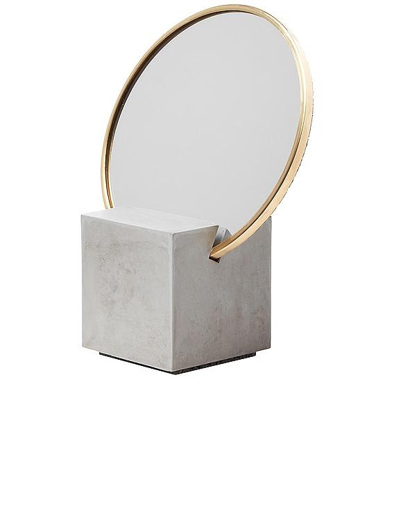 Slash Vanity Mirror in Gray & Gris