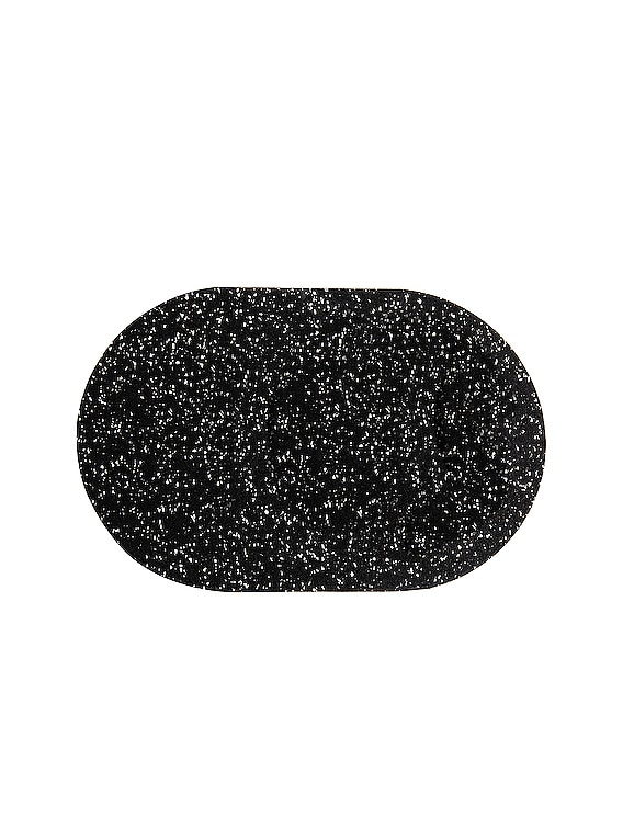 Capsule Placemat in Speckled Black