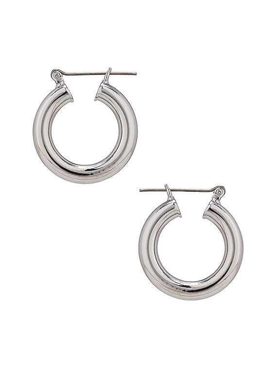 Circle Hoops in Silver