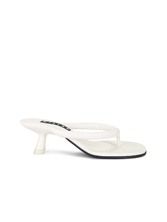 Vegan Beep Thong Sandal in White