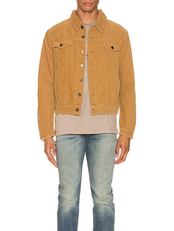 Classic Denim Jacket Stonewash in Beige