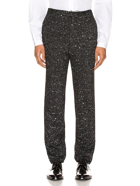 Fit Trousers in Black