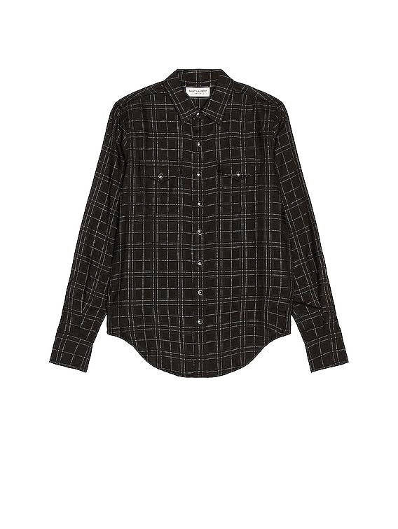 Slim Western Shirt in Black & White