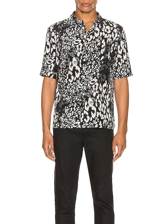 Short Sleeve Shirt & Grey in Black