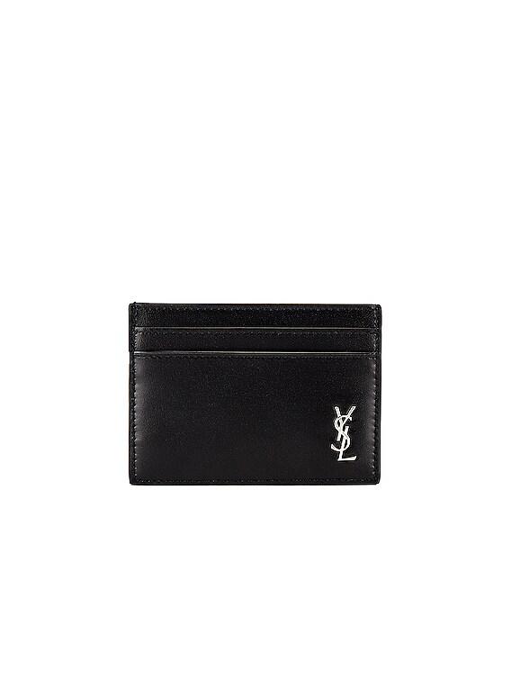 YSL Credit Card Holder in Black