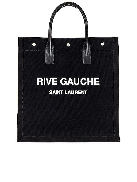 YSL Tote Bag in Black & Bianco & Black