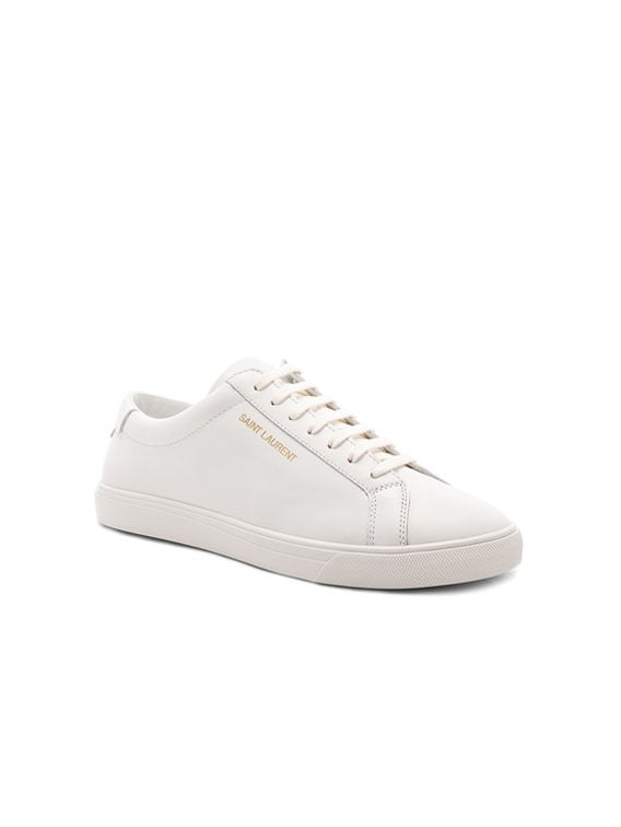 Leather Andy Low-Top Sneakers in Optic White