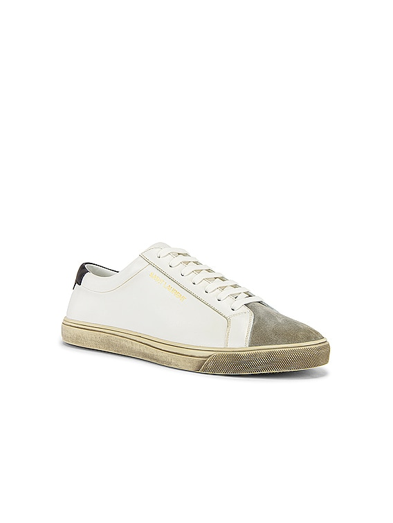 Andy Low Top Sneaker in Optic White & Black