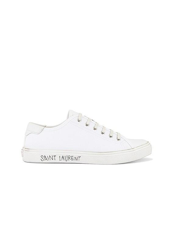 Malibu Low Top Sneaker in Optic White