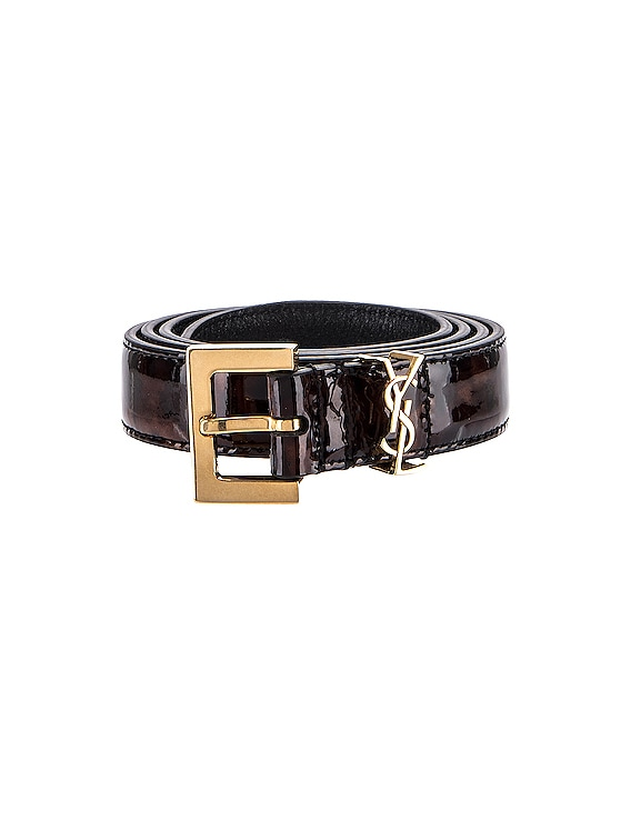 Leather Belt in Tortoise Brown