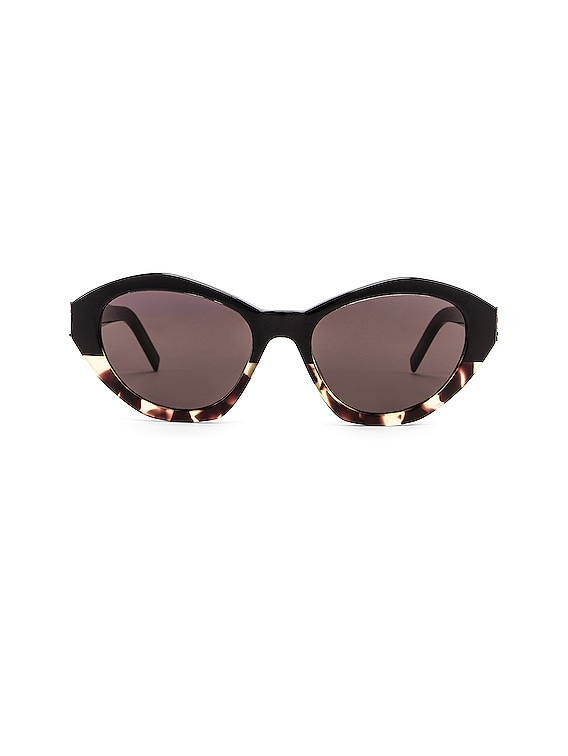 Acetate Contemporary Sunglasses in Shiny Black & Yellow Havana