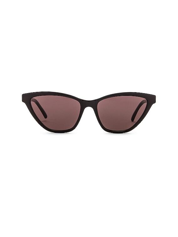 Cat Eye Sunglasses in Shiny Black