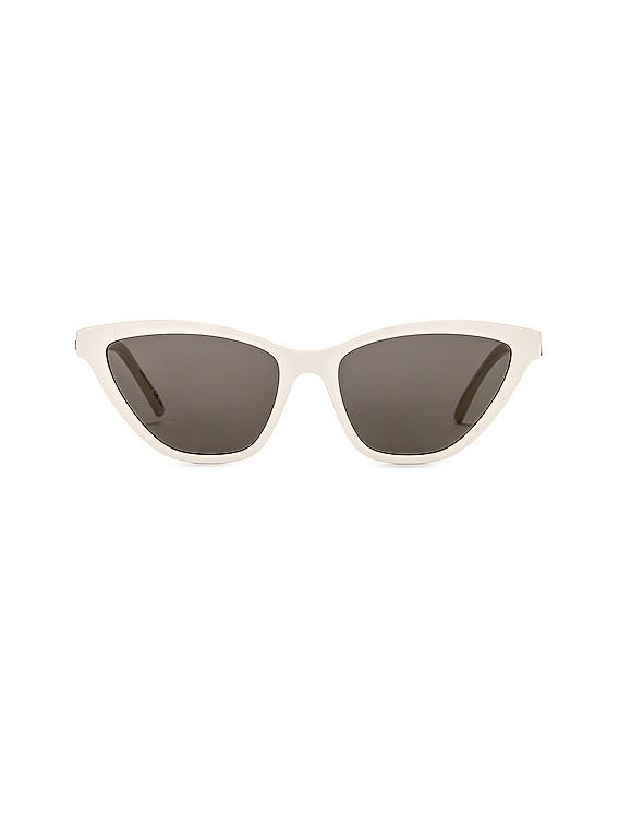 Cat Eye Sunglasses in Shiny Ivory