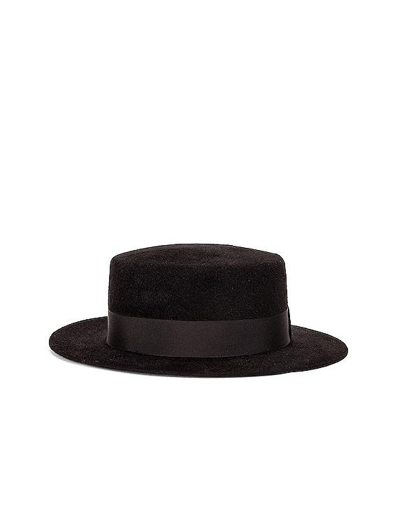 Canopy Hat in Noir