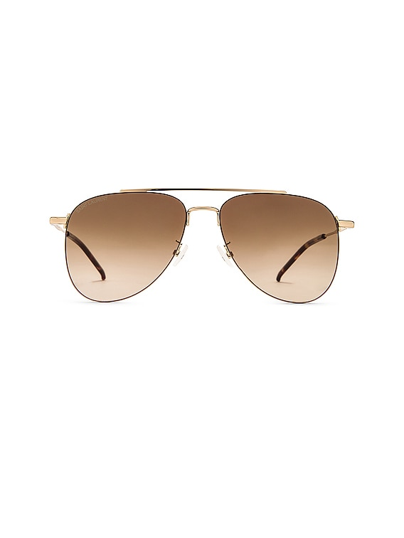 Metail Pilot Sunglasses in Shiny Light Gold