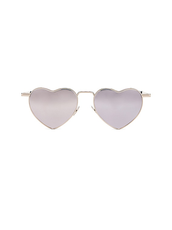Loulou Sunglasses in Shiny Silver