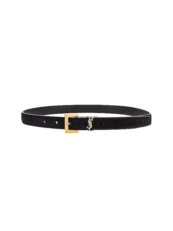 Light Suede Belt in Black