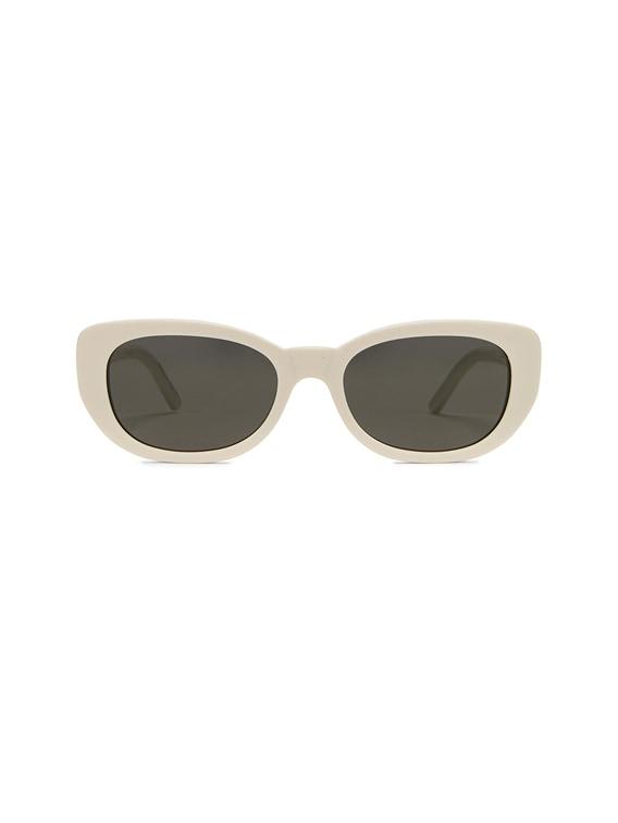 Betty Vintage Sunglasses in Shiny Ivory & Grey